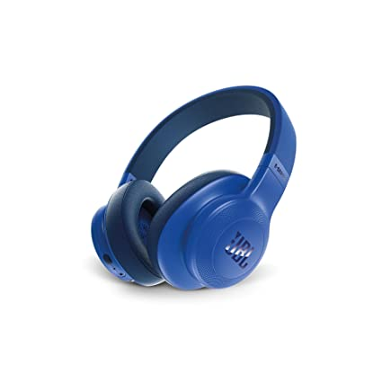 JBL E55BT Signature Sound Wireless Over-Ear Headphones with Mic (Blue)