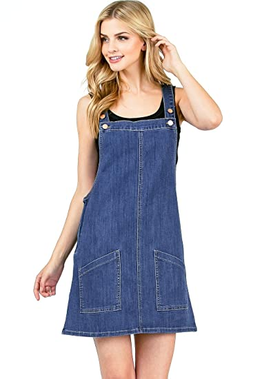 preview of wide varieties exceptional range of styles Angry Rabbit by Pink Ice Women's Juniors Premium Denim Pinafore Dress