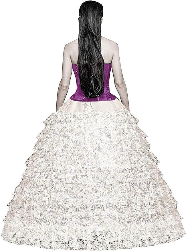 FuliMall Jupons Crinoline Mariage Jupon 6 Cerceau mari/ée Jupon Hoopless Robe de mari/ée Jupons Femme Jupes Sculptantes Wedding Petticoat Robe de Bal Jupon Jupes Femme Jupon
