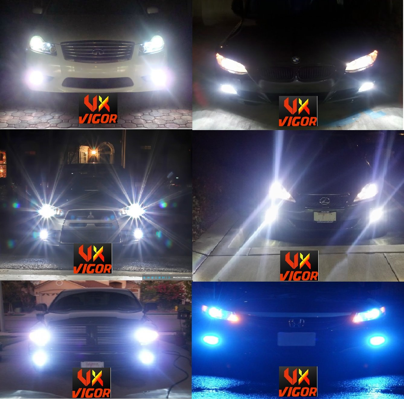 Amazon vigor 9006 hb4 xenon hid conversion kit 10k 10000k amazon vigor 9006 hb4 xenon hid conversion kit 10k 10000k deep blue dark blue premium slim ballasts built in ignitor two bulbs two ballasts nvjuhfo Choice Image