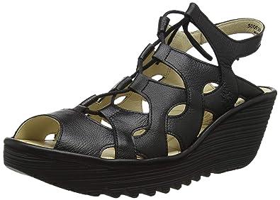 433170d2b48b Amazon.com  FLY London Women s YEXA916FLY Wedge Sandal  Shoes