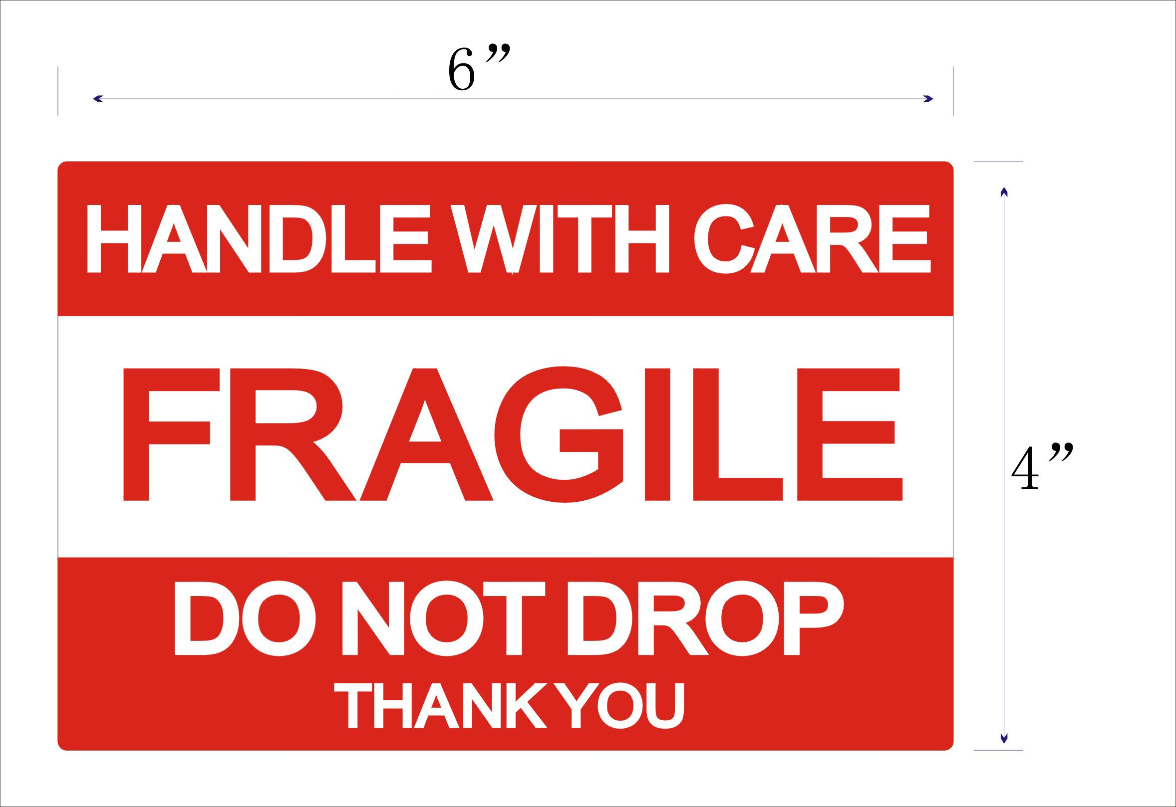 MFLABEL 4''x6'', Fragile Stickers, Do Not Drop Labels, Handle with Care Shipping Labels by MFLABEL (Image #2)
