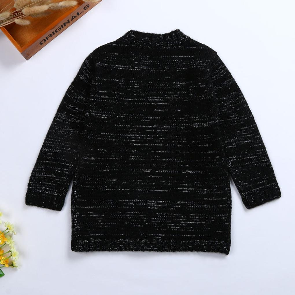 iumei Kids Boys Girls Spring Clothes Knitted Long Sleeve Sweater Cardigan Outwear Coat