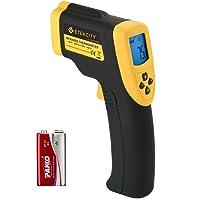 Etekcity Digital Laser Infrarot Thermometer IR Pyrometer berührungslos Temperaturmessgerät Temperaturmesser, -50 bis +750°C, LCD Beleuchtung, Schwarz/Gelb