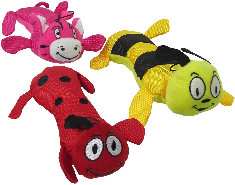 Pets First Nylon Plush Squeaking Animal Toss Toy Bundle (Set of 3), 11