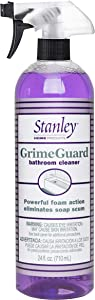 Stanley Home Products GrimeGuard Bathroom Cleaner - Bleach Free & Non Abrasive Eco Shower & Kitchen Tiles - Cleans Grime (Bottle with Sprayer)