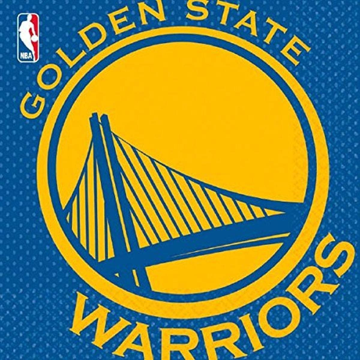 Amscan 513623 Golden State Warriors NBA Collection Luncheon Napkins, 16 pcs