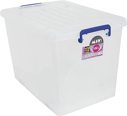 MSV Caja DE ORDENACION 100L, 71.5x52x44 cm: Amazon.es: Hogar