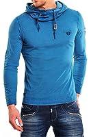 Tazzio Herren Sweatshirt Longsleeve Polo Clubwear Hemd Langarm Shirt Pullover Pulli / Anthrazit, Stone, Dunkelblau, Grau, Camel, Petrol