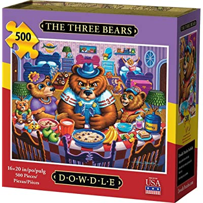 Dowdle Jigsaw Puzzle - The Three Bears - 500 Piece: Toys & Games