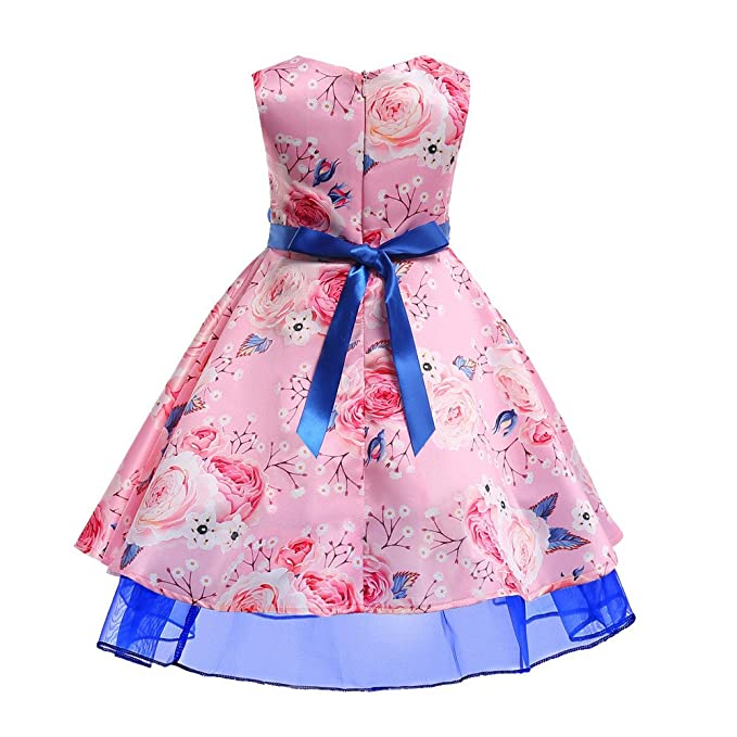Amazon.com: littleice bebé niñas estampado Floral princesa ...