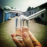 Glass Bong Pipe - 12cm Mini Hookah Smoking Filter Water Pipes Percolator Bongs (CLEAR)