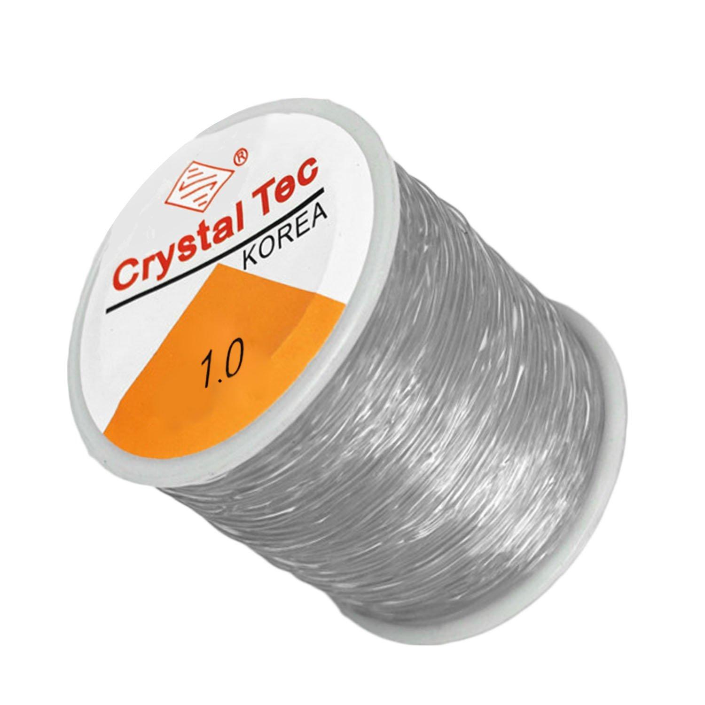 Roll of 90m Clear Elastic Stretch Beading Thread Craft Jewelry Bracelet Making Cord String 1mm Diameter Gosear