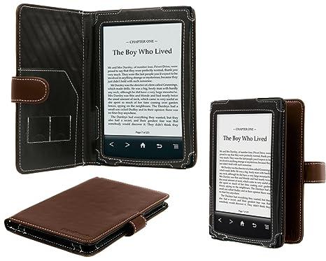 Navitech marrón de 15,24 cm funda de piel de Napa de libros de ...