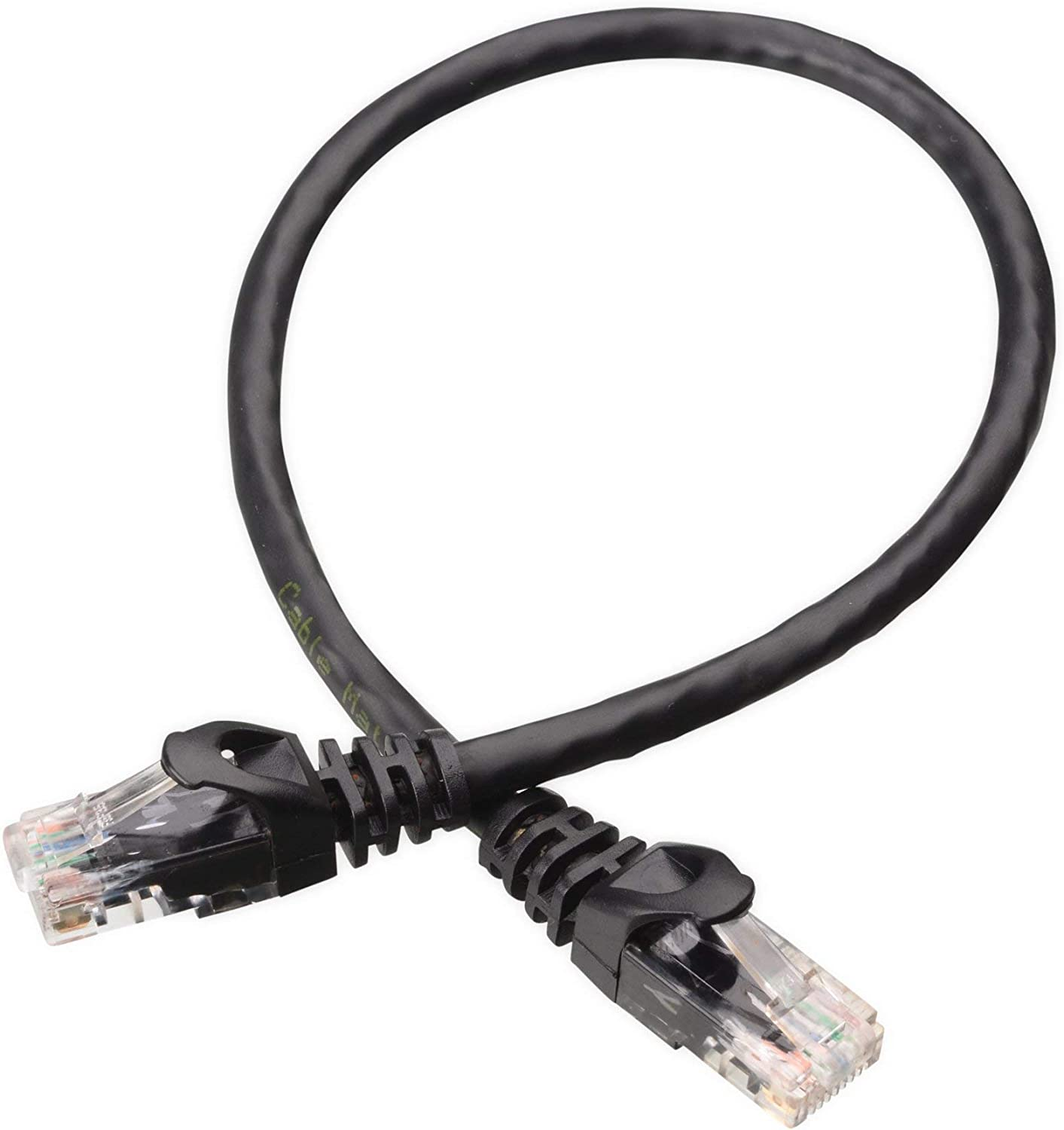 Cable Matters 10-Pack Snagless Cat6 Ethernet Cable Renewed Cat6 Cable, Cat 6 Cable in Black 1 Foot