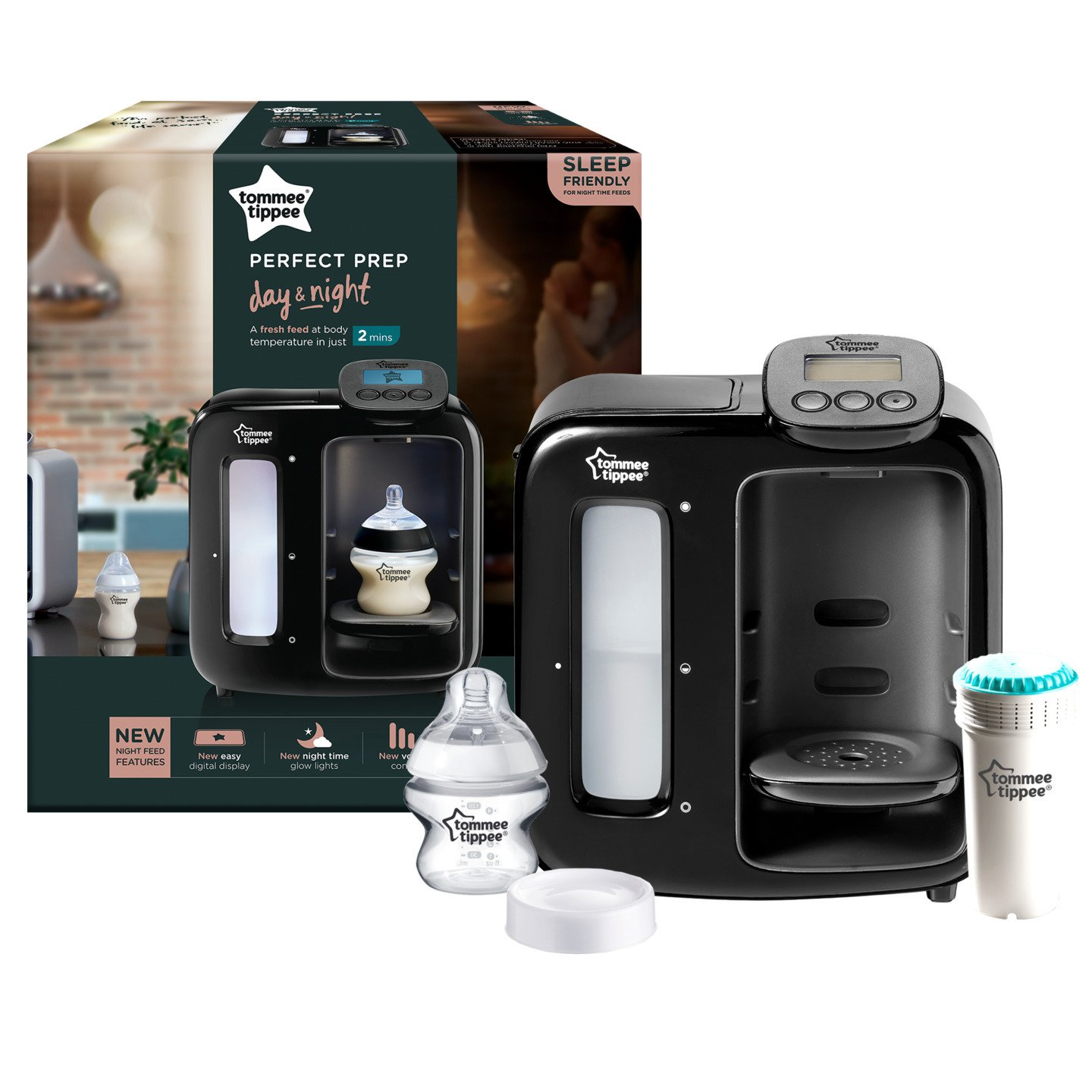 Tommee Tippee Perfect Prep Day /& Night gris