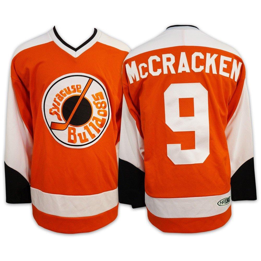 Mad Brothers 9 McCrackenムービー公式ライセンスSlapshotスラップショットホッケージャージーMade in Canada オレンジ Large