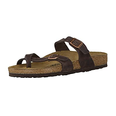 Birkenstock Women's Mayari Adjustable Toe Loop Cork Footbed Sandal Havana  35 ...