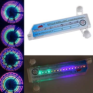 Vktech - Iluminación para ruedas/llantas de bicicleta o moto, 32 luces LED intermitentes