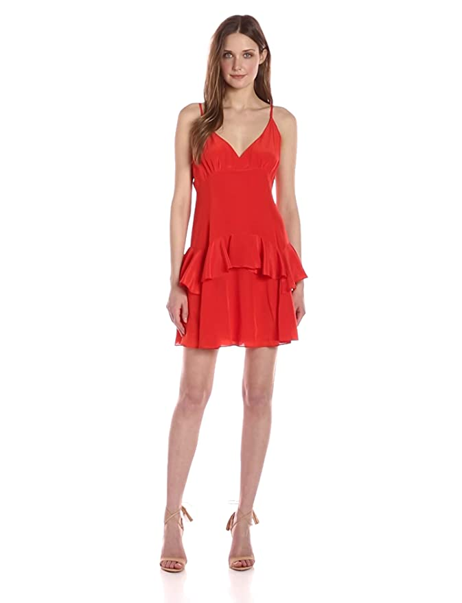 a65bc1cb7c82 Amazon.com: KENDALL + KYLIE Women's Ruffle Slip Dress: Clothing