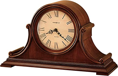 Howard Miller Hampton Mantel Clock 630-150 Windsor Casual with Quartz, Dual-Chime Movement