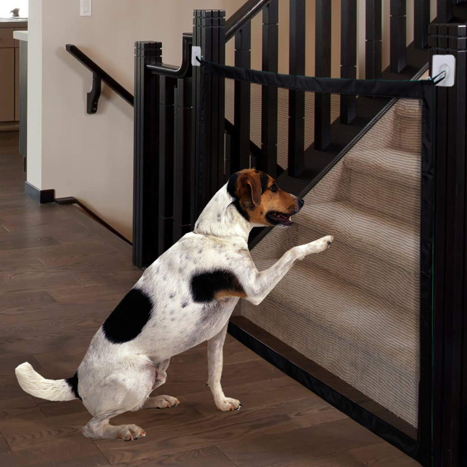 MOO&NOO Magic Gate Pet Safety Gate Portable Folding Guard Install Anywhere for Dog Cat Baby, Fits Spaces Between 32'' to 39'' Wide