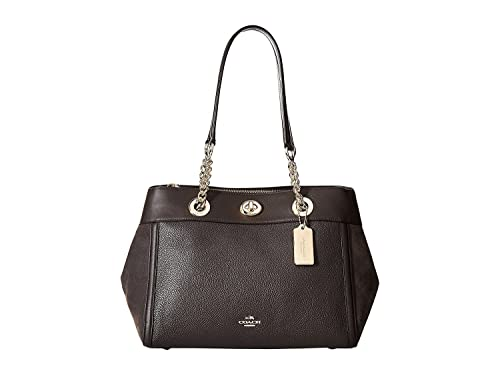 ef79cff4e23a COACH Women s Mixed Leather Turnlock Chain Edie Li Chestnut One Size ...