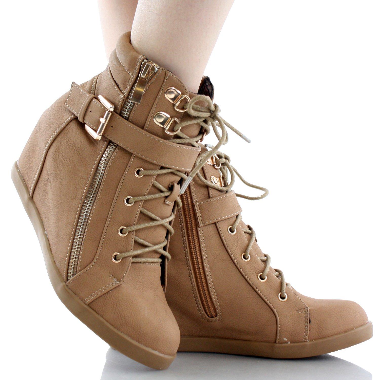 Top Moda Peter-1 Wedges Fashion-Sneakers B00J0FBZR8 6.5 B(M) US|Camel