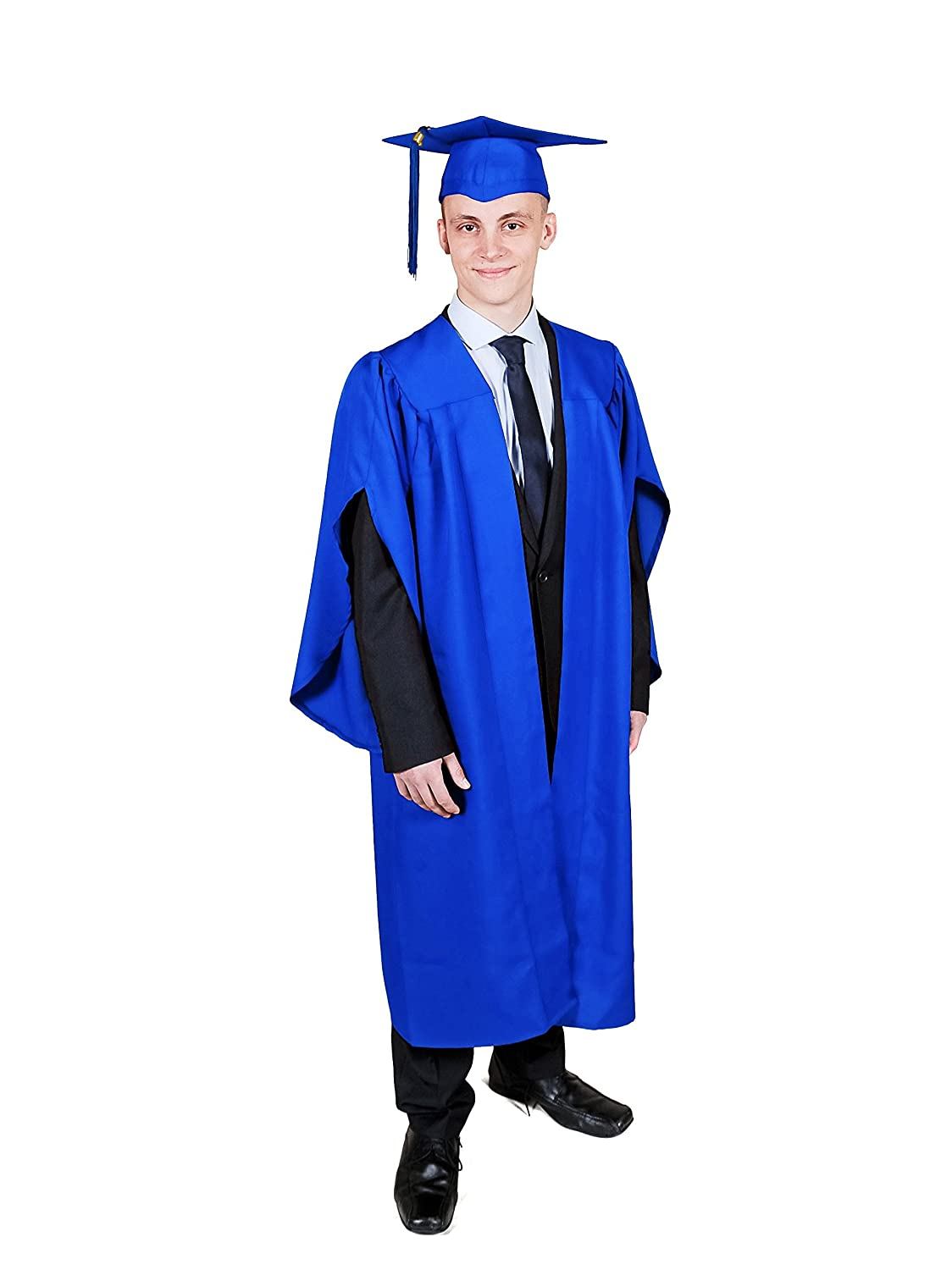 Matte UK Graduation Gown With Cap