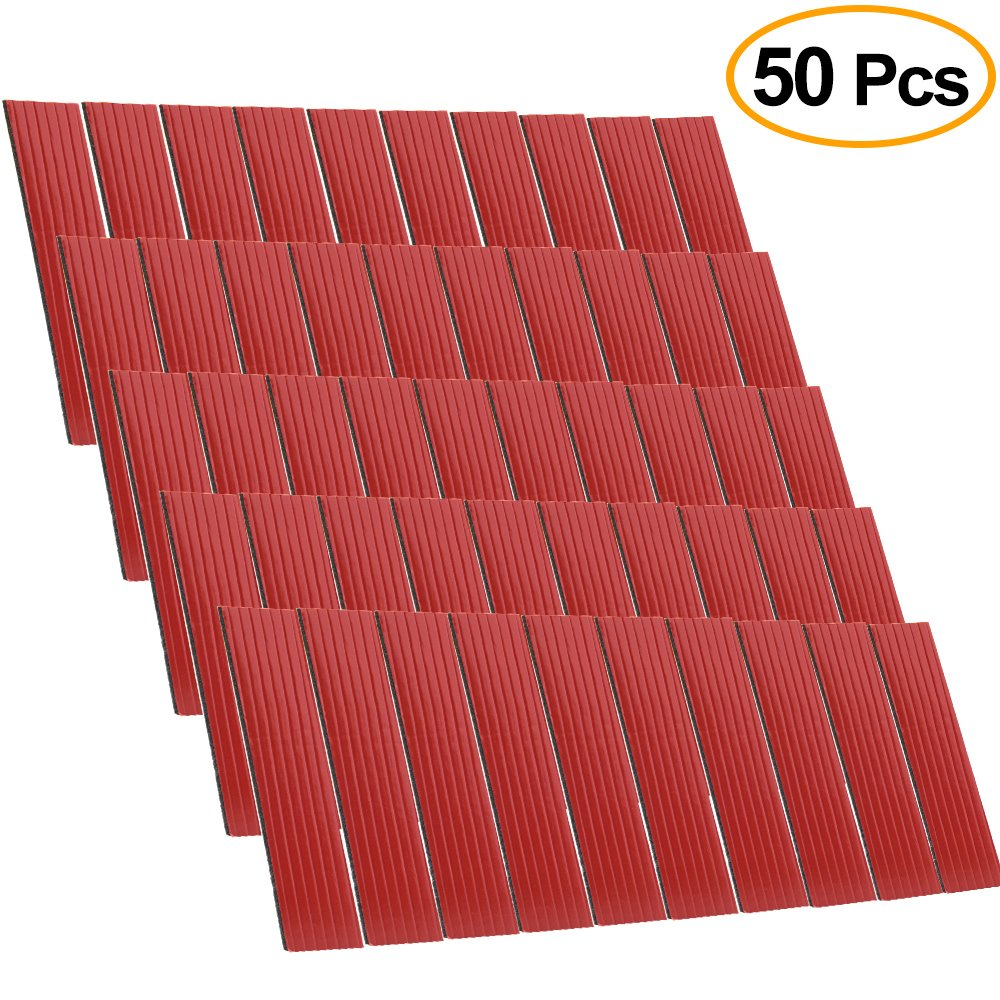 FEPITO 50 Pack Number Plate Sticky Pads Double Sided Foam Pad for Car License Number Plate Fixing