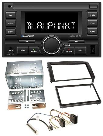 JVC KW-M24BT 2DIN Bluetooth MP3 AUX USB Autoradio f/ür Opel Corsa C Signum Vectra B ab 2005 Charcoal