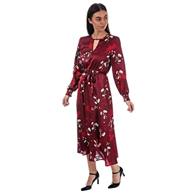 4e822e660b5 Only Robe Leonora Smock Midi Rouge Femme  Only  Amazon.fr  Vêtements ...