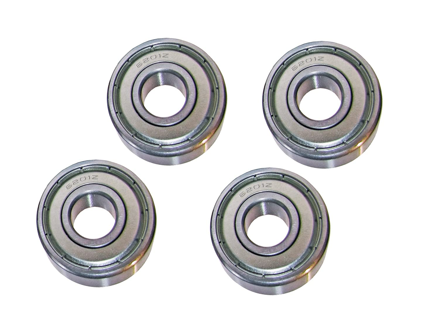 6201-2RS Ball Bearing Dual Sided Rubber Sealed Deep Groove 12x32x10 4PCS