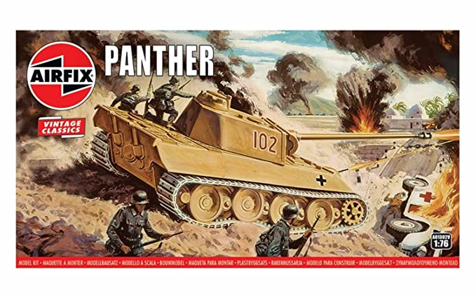 Amazon.com: Airfix Vintage Classics Panther Tank 1:76 ...