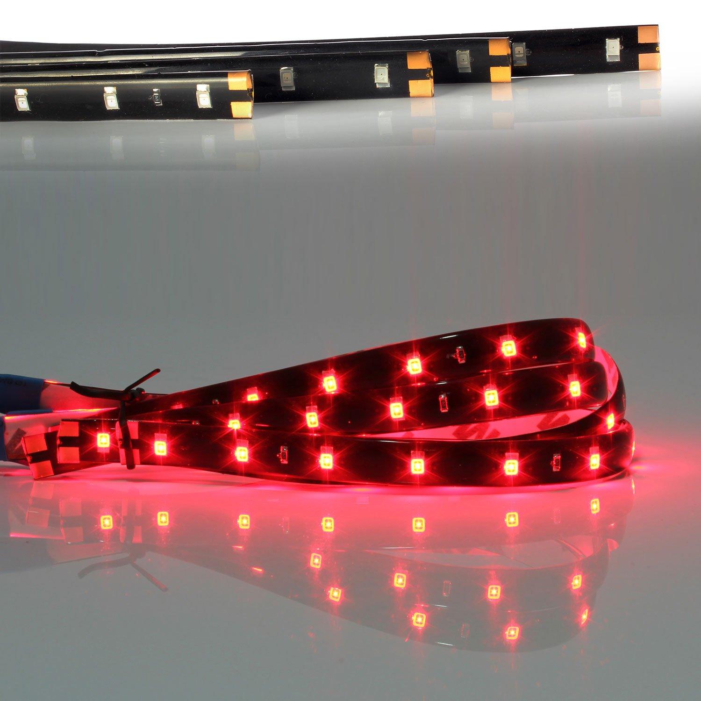 Luces de neon rojos impermeables para el interior del coche