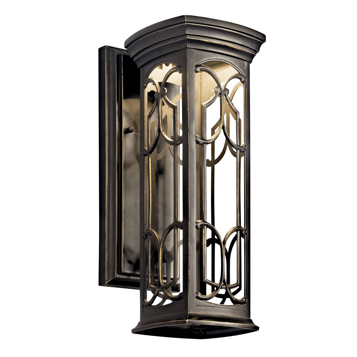 Outdoor led wall lantern olde bronze wall porch lights amazon com - Kichler Lighting 49229oz Led Franceasi 25 Inch Light Outdoor Led Wall Lantern Olde Bronze With Light Umber Wall Porch Lights Amazon Com