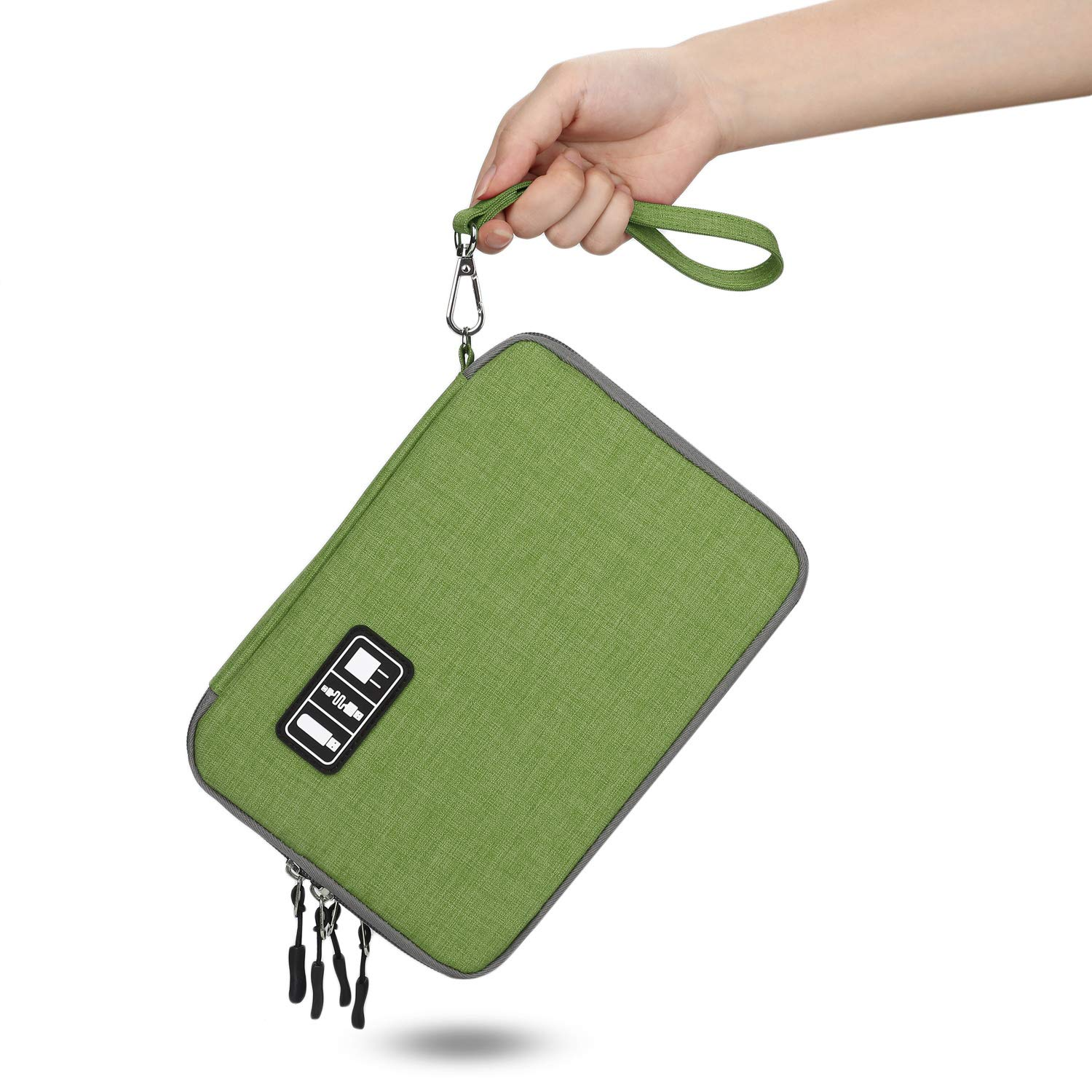 Jelly Comb Electronic Accessories Cable Organizer Bag Waterproof Travel Cable Storage Bag for Charging Cable Cellphone Peacock Blue and Orange Electronics Organizer Mini Tablet and More