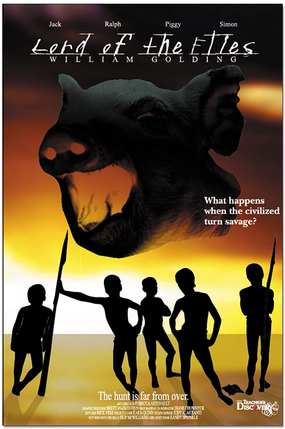 the beast in lord of the flies essay Essay question-how does golding convey the differences between jack, simon and ralph in the conflict of the nature of the beast towards the end of chapter.