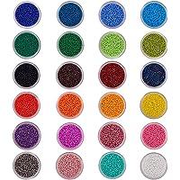 PandaHall Elite Cuentas de Colores Perlas de Vidrio