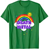 Death Metal Rainbow - Funny Heavy Metal Cool Pink T-Shirt