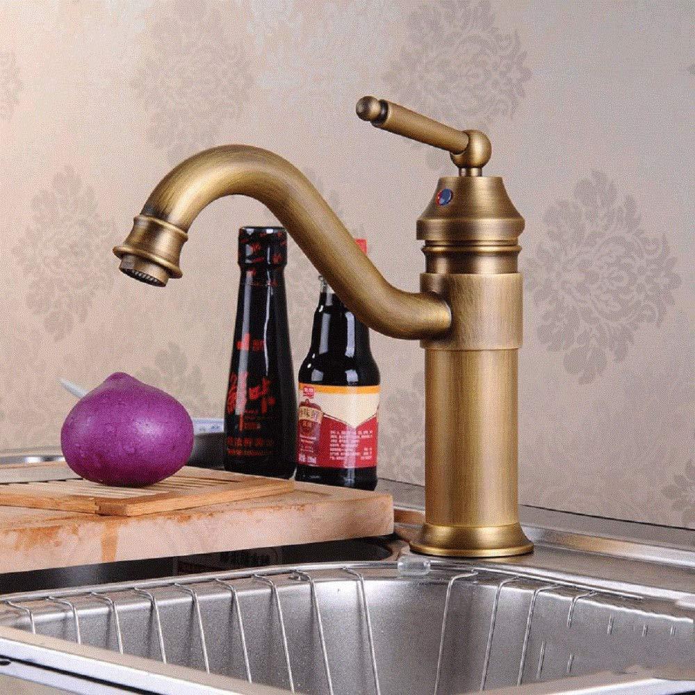 Kitchen Faucet Faucet Bathroom Vanity Faucet Brass European Style Vintage Antique Kitchen Sink Faucet Hot And Cold Basin Mixer Kitchen Sink Faucets Basin Mixer Faucet