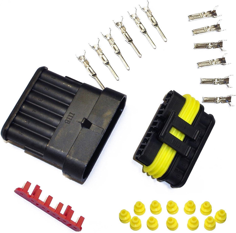 Kfz Ersatz Stecker Amp Tyco Superseal 1 5 Kit 6 Pin Set 282090 1 282108 1 Auto