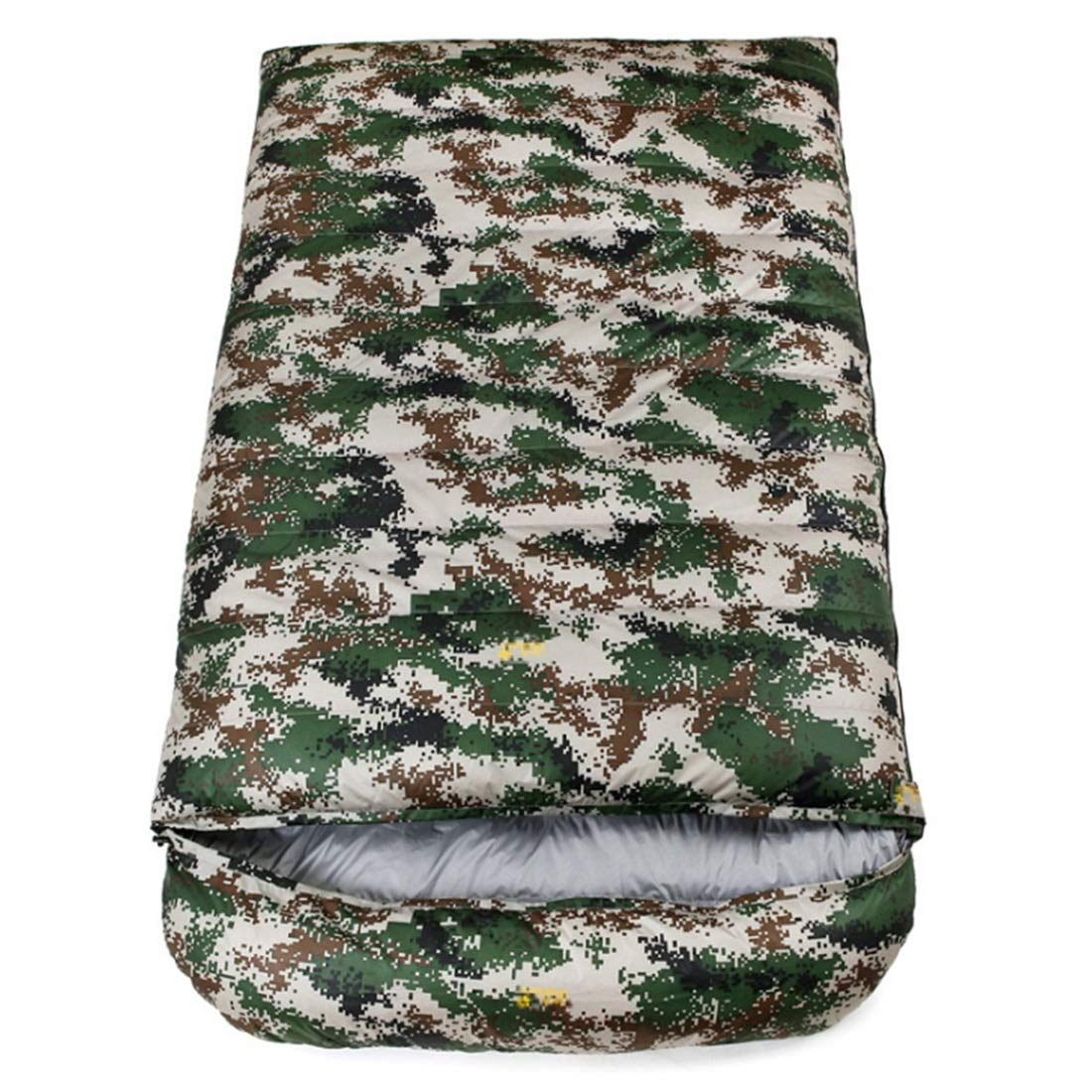 Jhcpca 旅行用、キャンプ用、ハイキング 遠足 超軽量 寝袋 (Color : レッド, サイズ : 1500g) B07KT5YTSH Camouflage 1000g 1000g|Camouflage