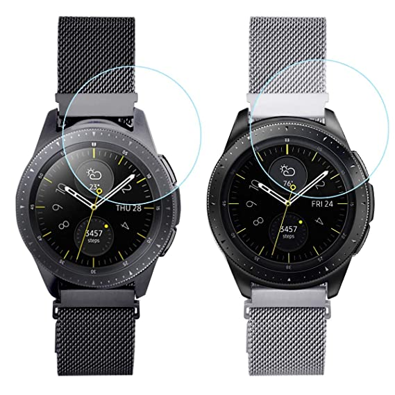 Koreda Compatible Samsung Galaxy Watch 46mm/Gear S3 Frontier/Classic Band, 2 Pack Stainless Steel Mesh Loop Bracelet Strap Replacement for Ticwatch ...