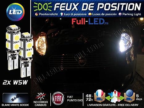 Lampadina Luci Di Posizione : Lampadine luci di posizione led fiat punto evo w5 w bianco xenon