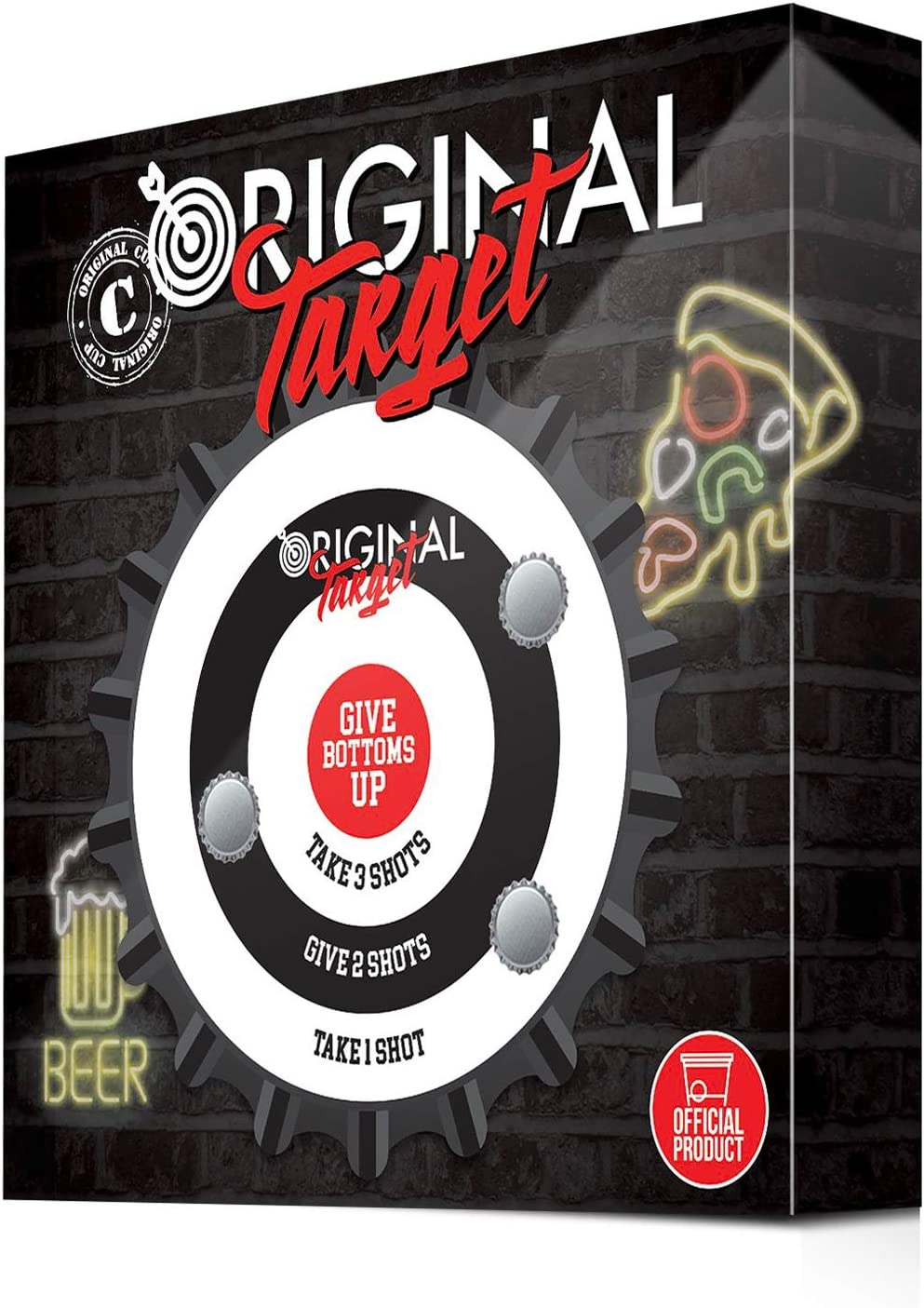 Original Cup - Original Target Juego de Dardos Original - Blanco magnético con promesas de Alcohol - 6 cápsulas de Cerveza - Juego de Noche - Juego de Beber: Amazon.es: Juguetes y juegos