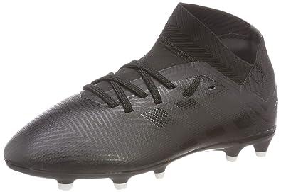best service 4b7bb d3a35 adidas Nemeziz 18.3 FG, Chaussures de Football Mixte Enfant, Noir  (Negbás Ftwbla