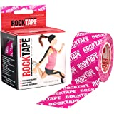 """RockTape Kinesiology Tape for Athletes, Water Resistant, Reduce Pain & Injury Recovery, 2"""" x 16.4 Feet"""