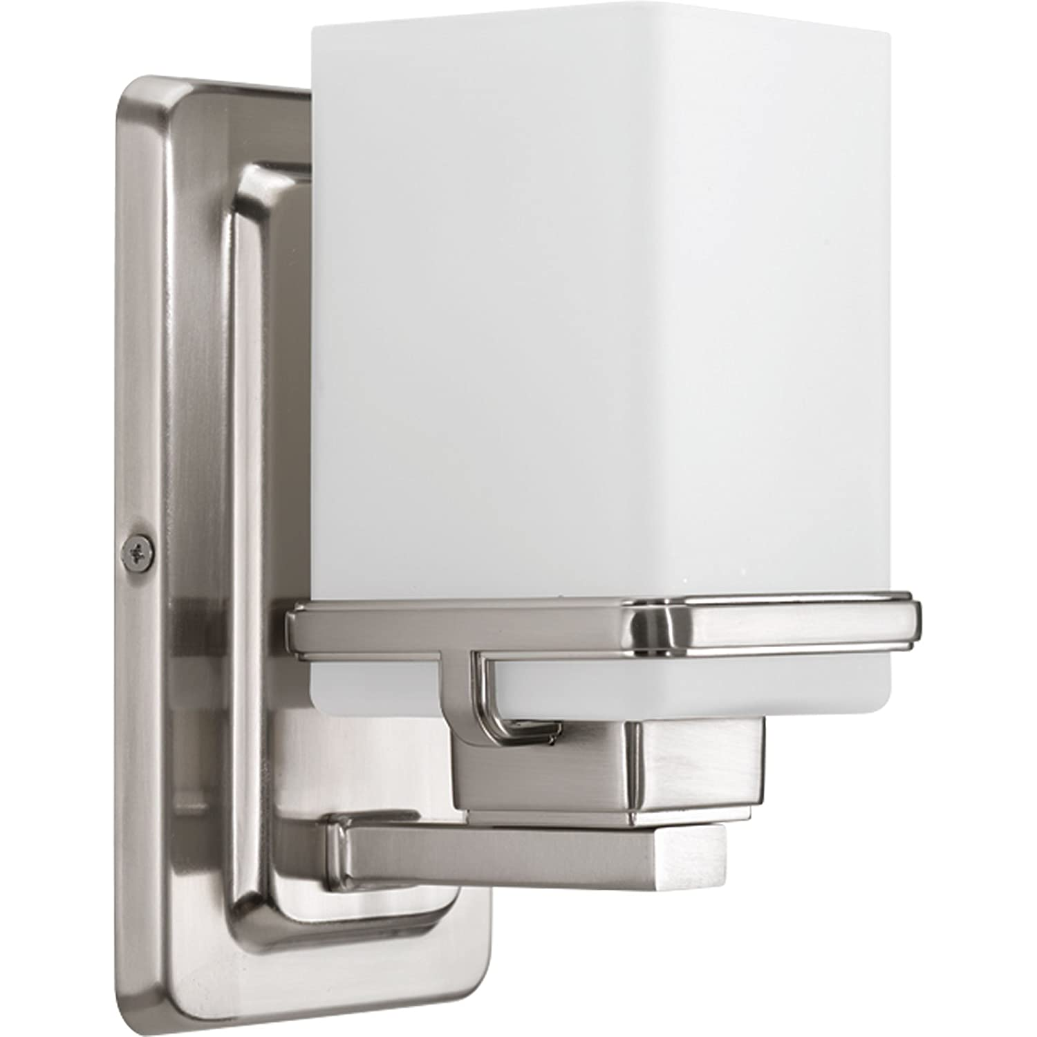 Progress Lighting P2193-09 Metric One-Light Bath, Brushed Nickel
