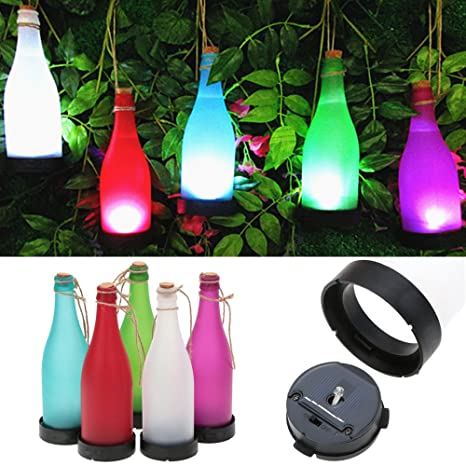 led hanging lights outdoor christmas ansee solar bottle lamp led yard decor tree lights outdoor hanging for party garden amazoncom